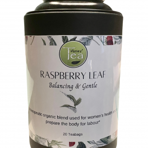 Raspberry Leaf Teabag Canister